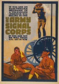 Vintage WW1 Army Signal Corps Recruitment Poster